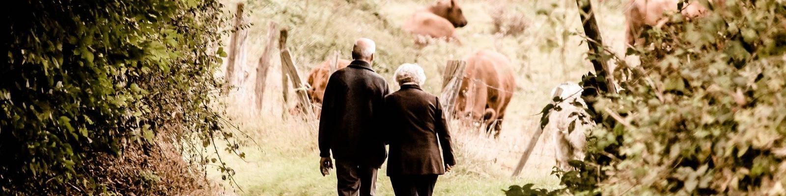 Ouder paar wandelen