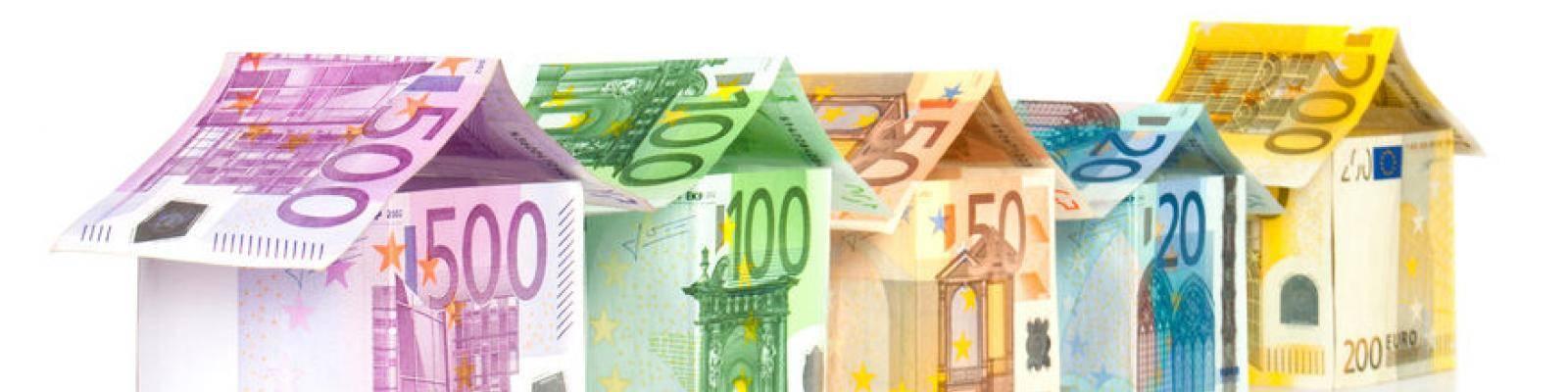 Huisjes van geld