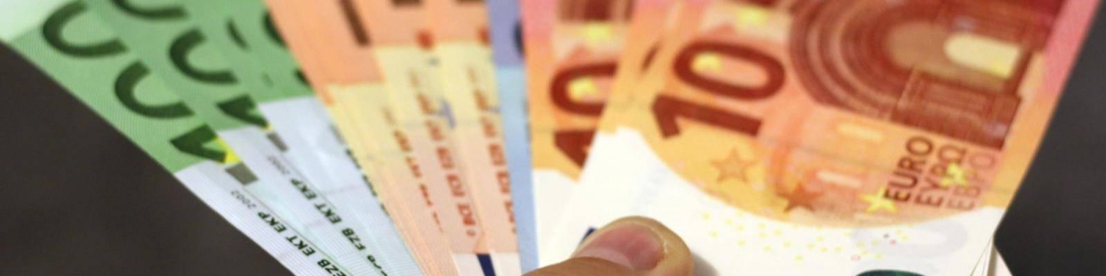 Briefgeld euro's