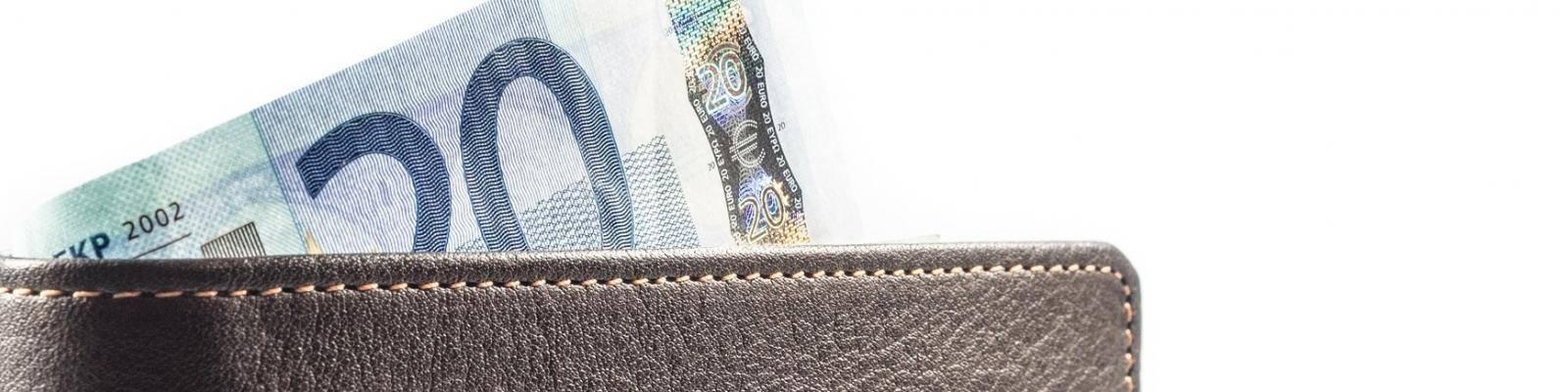 portemonnee met briefgeld