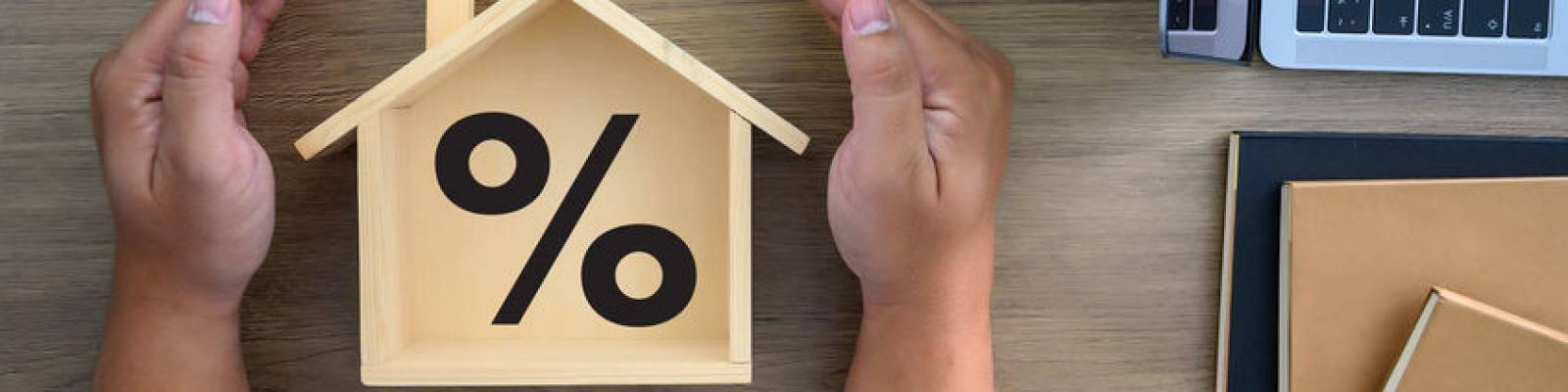 percentage teken in houten huisje