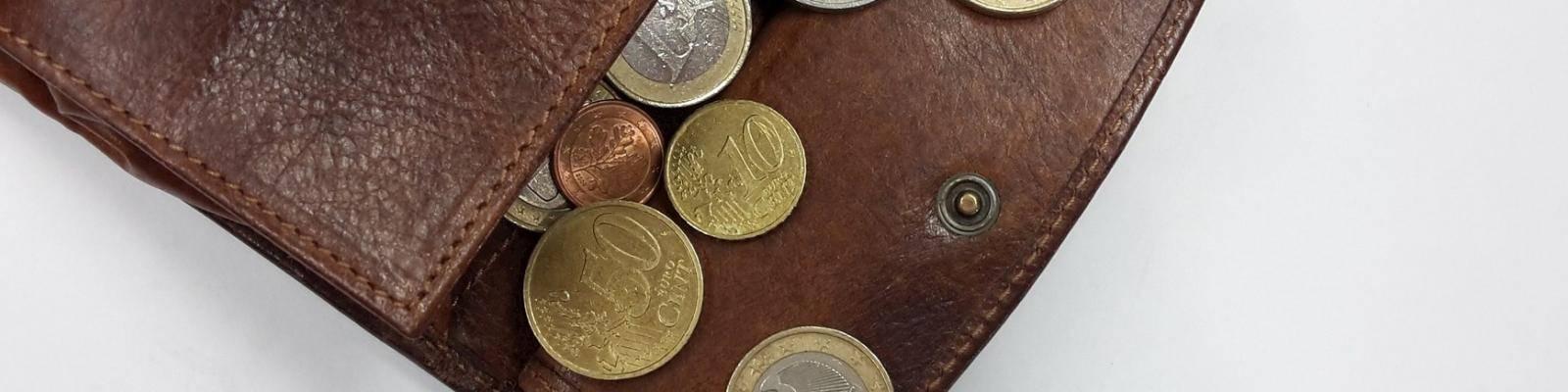 portemonnee met muntgeld