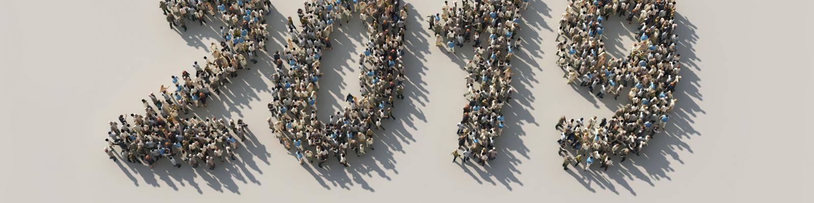 Mensen staan en vormen 2019